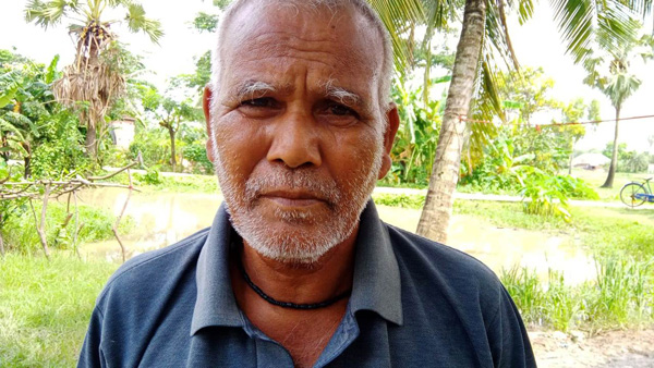 Tarak Mistri partially lost his sight and hearing ability after tiger attack in Sundarbans. Pic: Partho Burman 30