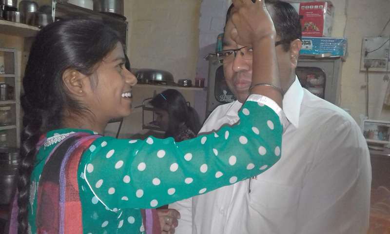 Jyoti Prabhari, Abhijit's first student. She has completed BSc (Nursing). Pic: courtesy Abhijit C Chandra 30 Stades