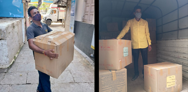 Toybank volunteers dispatching toys & games to schools. Pic: Facebook/@ToybankIndia 30stades
