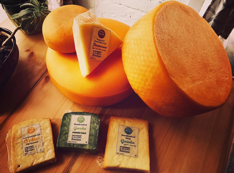 Old Hill Foods makes 11 varieties of cheese, including those infused with herbs and local flowers. Pic: Old Hill Foods 30 stades