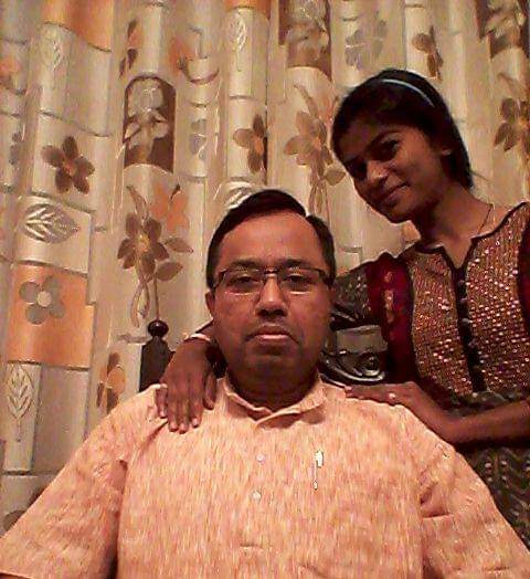 Abhijit Chandra with his student and foster daughter Jyoti.  30 stades battle with schizophrenia mental health matters