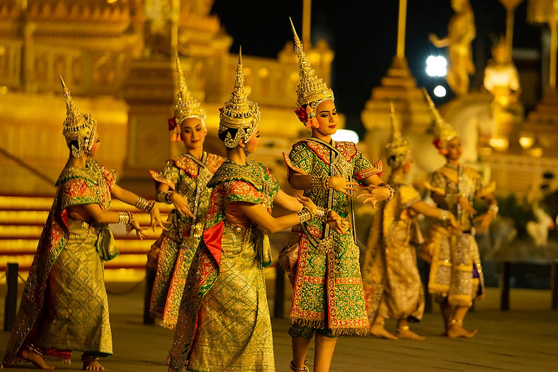 Artists performing Ramakien (glory of Lord Rama) in Bangkok. pic: Flickr 30 stades