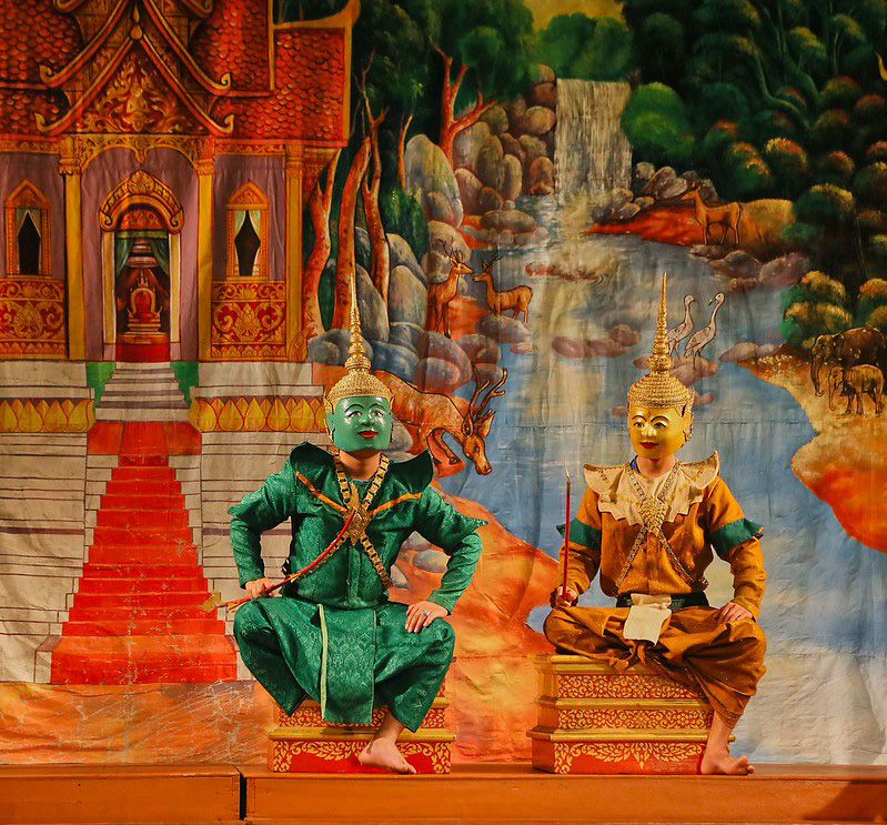 The final scene of the Ramayana by the Royal Ballet Theater of Luang Prabang in Laos. Pic: Flickr 30 stades